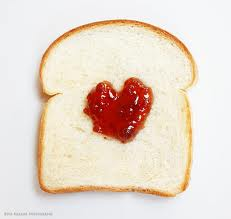 love jelly valentine on bread