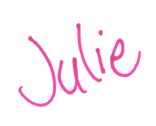 Julie signature pink no line